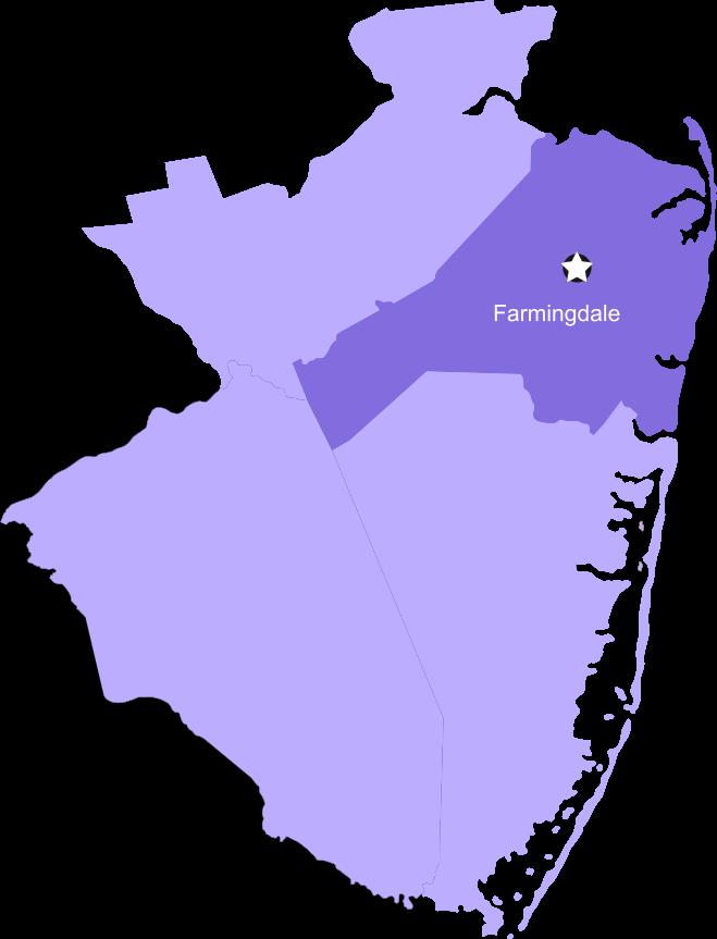 Farmingdale map